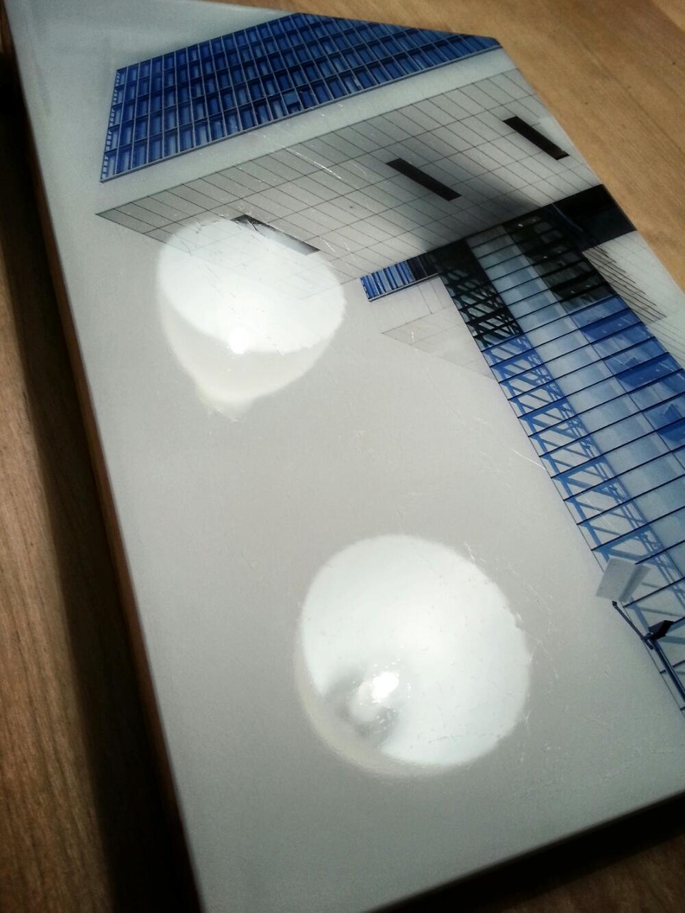 Epoxidharz Versiegelung eines Fotos
